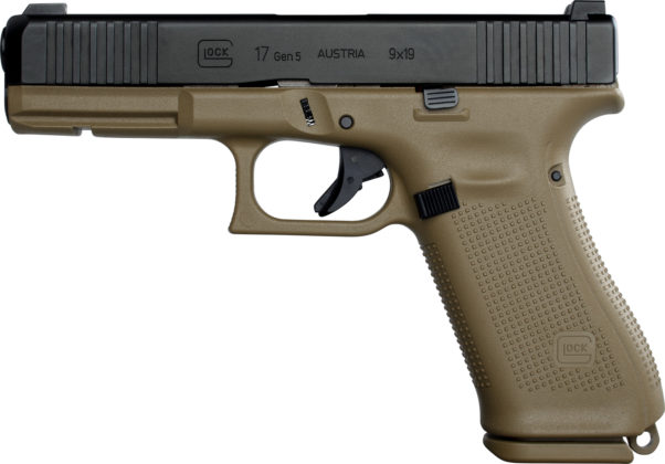 la pistola glock g17 gen5 destinata alle forze armate francesi vista da sinistra