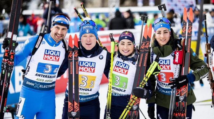 Mondiali di biathlon 2020, prima medaglia per l'Italia nella staffetta 4x6 km