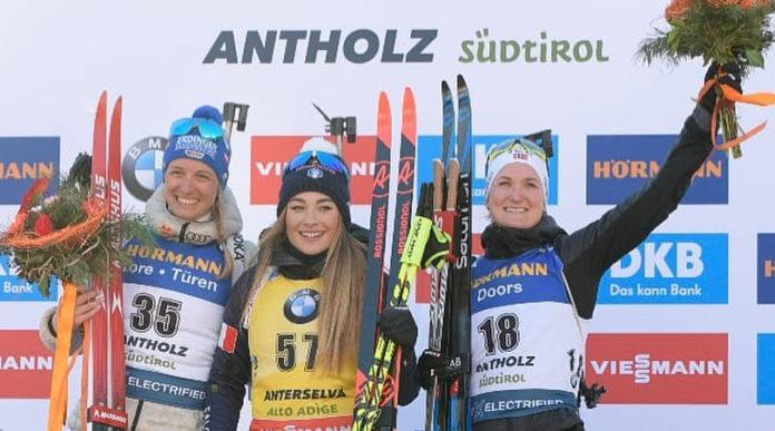 mondiale di biathlon di Dorothea Wierer: podio della gara individuale 2020 insieme a Vanessa Hinz e Marte Olsbu Røiseland