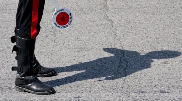 nuova autocertificazione covid-19: carabiniere a posto di controllo