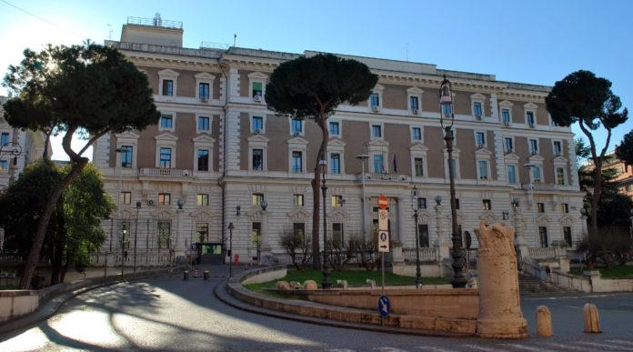 Scadenza del porto d'armi: palazzo del Viminale, sede del ministero dell'Interno, in Roma
