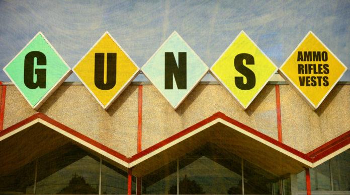 acquistare un'arma per la prima volta: negozio di armi in america