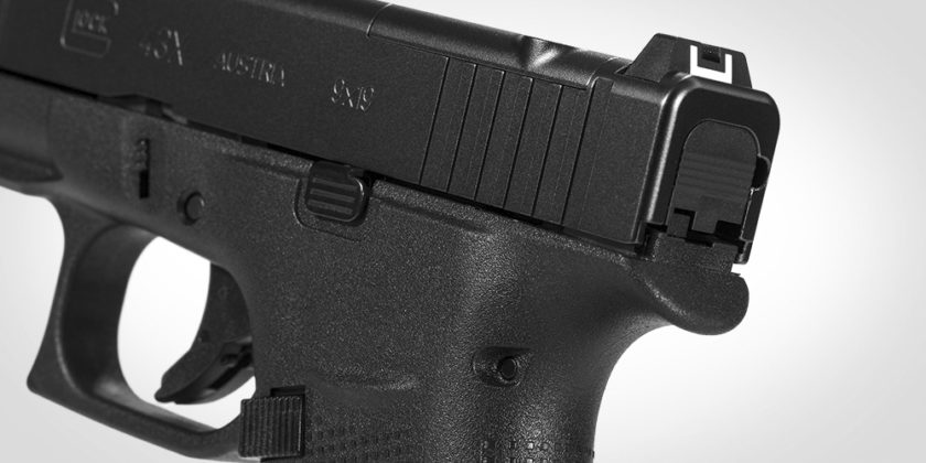 beavertail della pistola glock g43x mos
