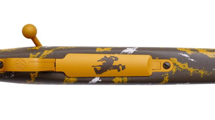 la Weatherby Mark V Cowpoke Edition vista dall'alto
