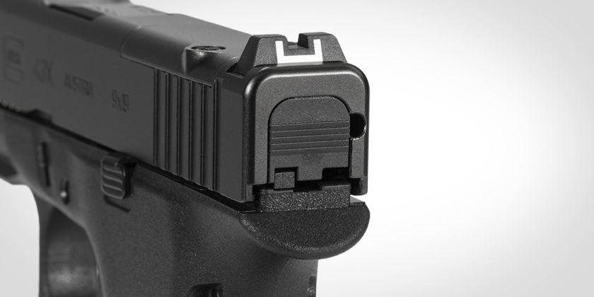 tacca di mira in polimero della glock g43x mos