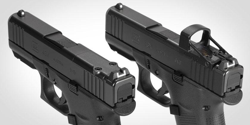 tagli di presa della pistola glock g43x mos