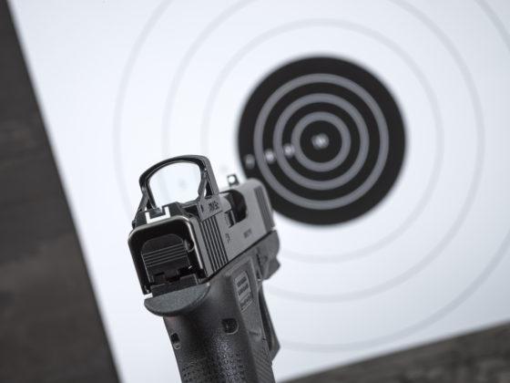 utilizzo dell'ottica che accompagna la pistola glock g43x