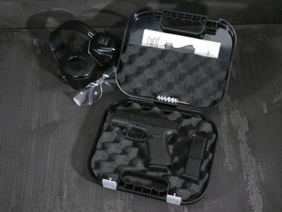 valigetta con pistola glock g43x mos