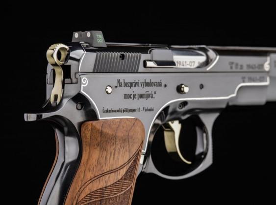 destra, il carrello della pistola cz 75 tobruk