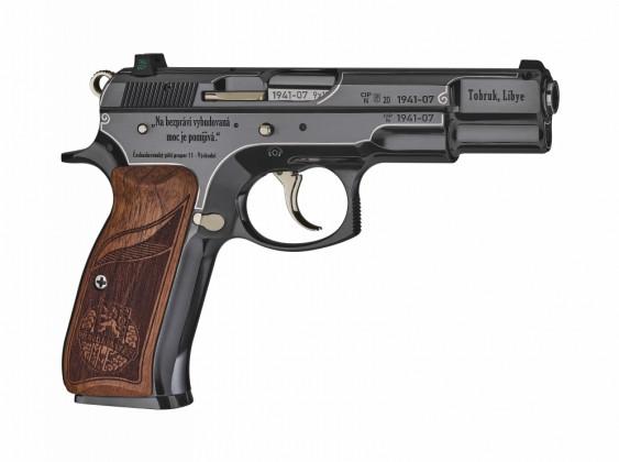 fianco destro della pistola da collezione cz 75 tobruk