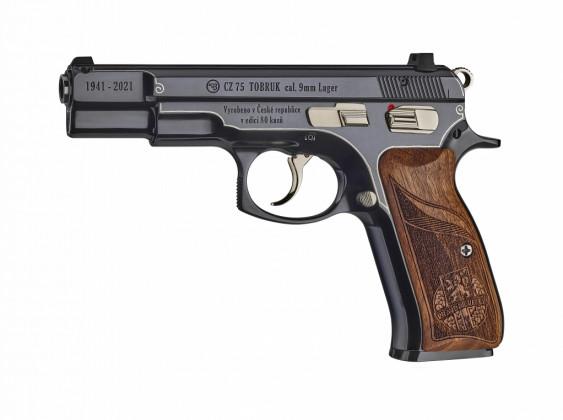 lato sinistro della pistola cz 75 tobruk