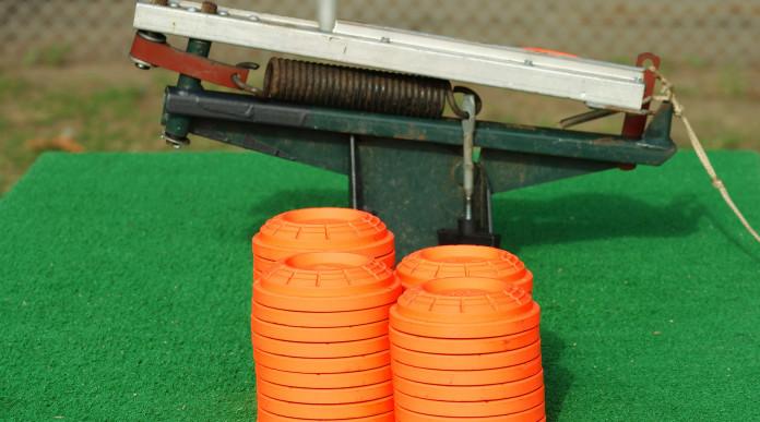coppa del mondo di tiro a volo: piattelli pronti al lancio