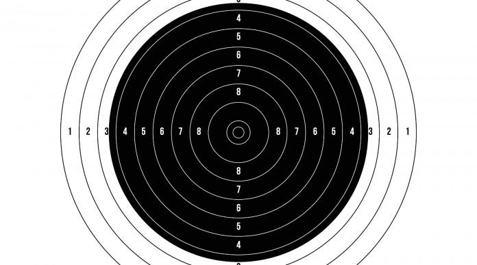 campioni europei di tiro: bersaglio issf pe tiro a segno