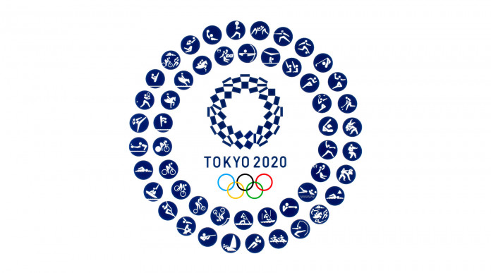 europei di tiro: logo tokyo 2020, a rappresentare carta olimpica