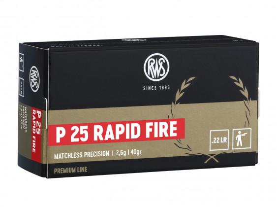 confezione della munizione rws p25 rapid fire