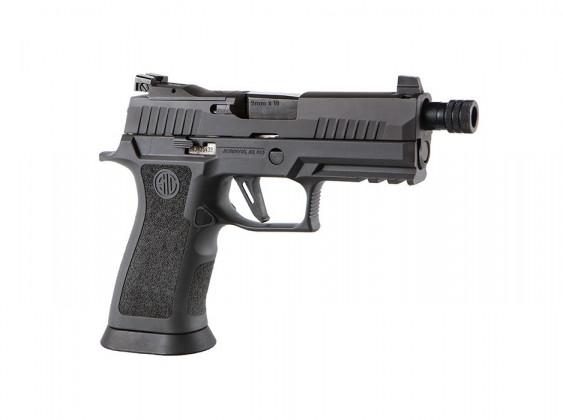 fianco destro della pistola striker fired sig sauer P320 XCarry Legion
