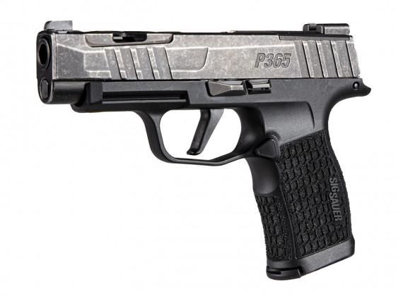 fianco sinistro della pistola Sig Custom P365XL Spectre