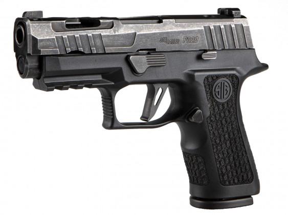 fianco sinistro della pistola microcompatta Sig Custom P320X Compact Spectre