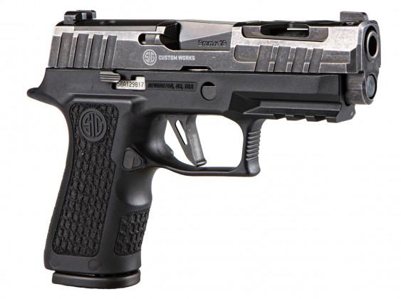 lato destro della della pistola Sig Custom P320X Compact Spectre