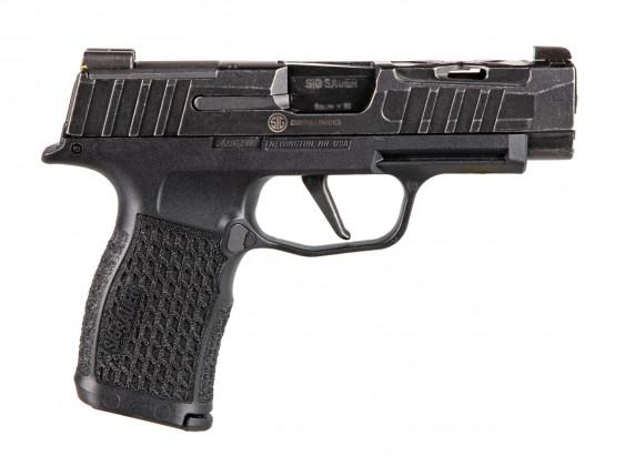 vista classica della pistola Sig Custom P365XL Spectre