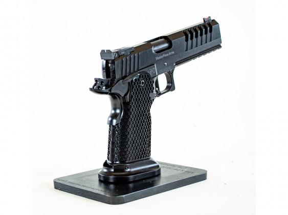 da dietro, la pistola sportiva per il tiro dinamico MasterPiece MPA DS40 TT Comp