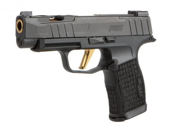 da sinistra, la pistola microcompatta Sig Custom P365XL Spectre con nuova finitura