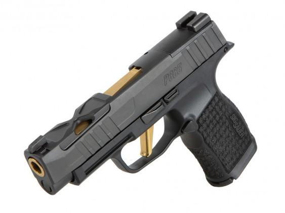 fianco sinistro della pistola microcompatta pistola microcompatta Sig Custom P365XL Spectre con nuova finitura